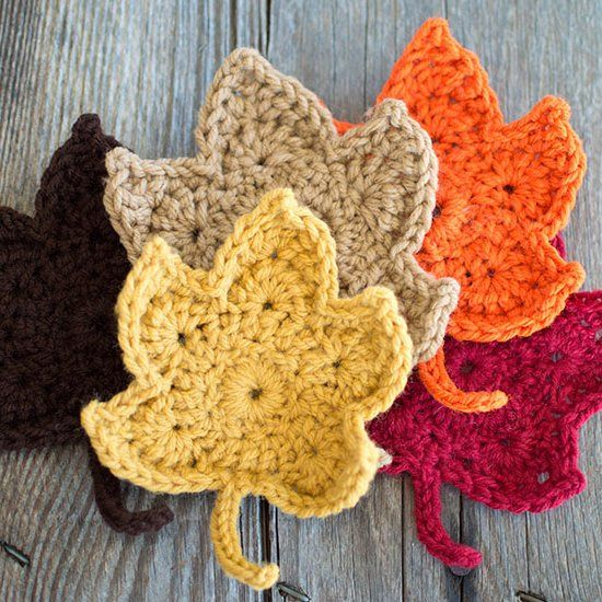 Fall Leaves Free Crochet Pattern Super Easy And Free Crochet