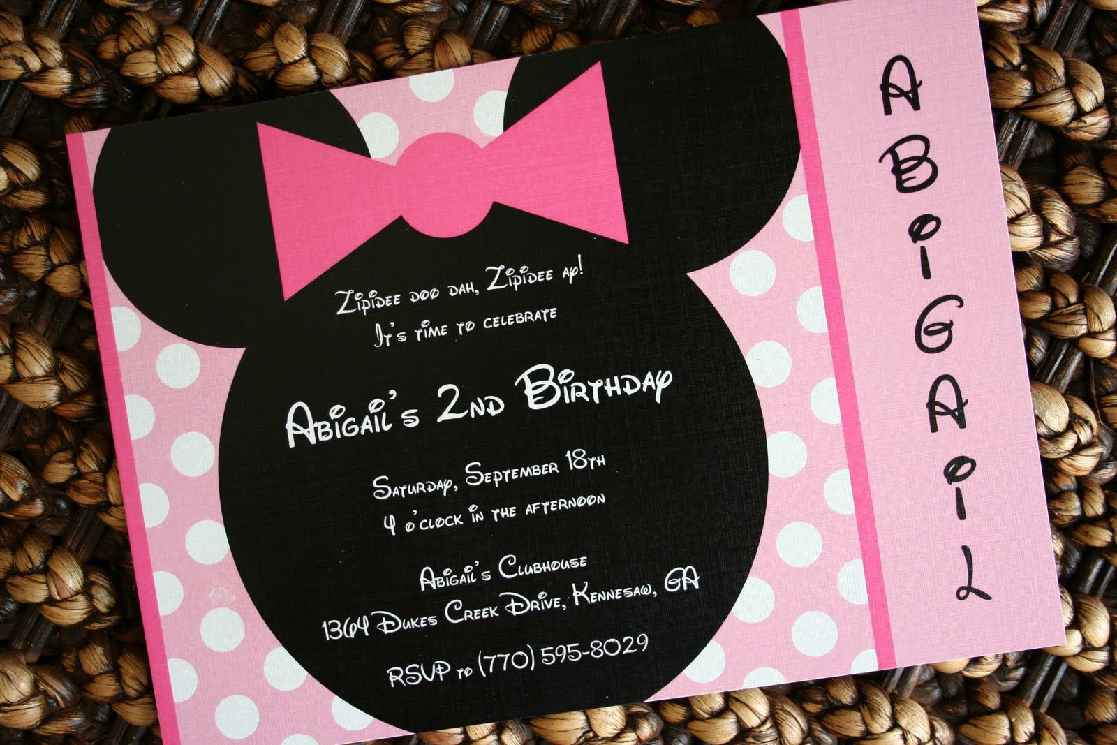 18 Minnie Mouse Party Invitation Minnie Mouse Birthday Party