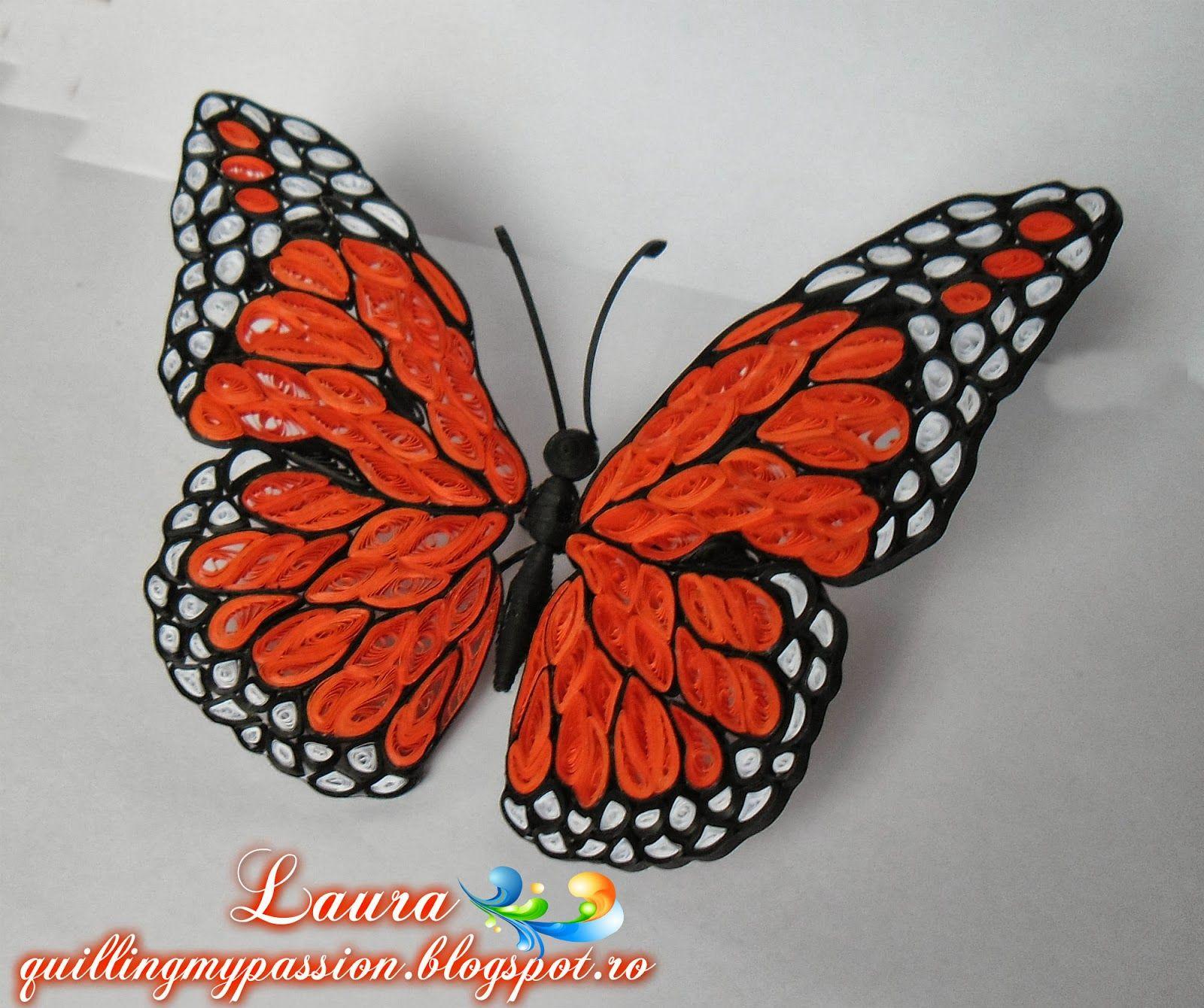 quilling modele gratuit recherche google quilling artwork i admire pinterest mariposas. Black Bedroom Furniture Sets. Home Design Ideas
