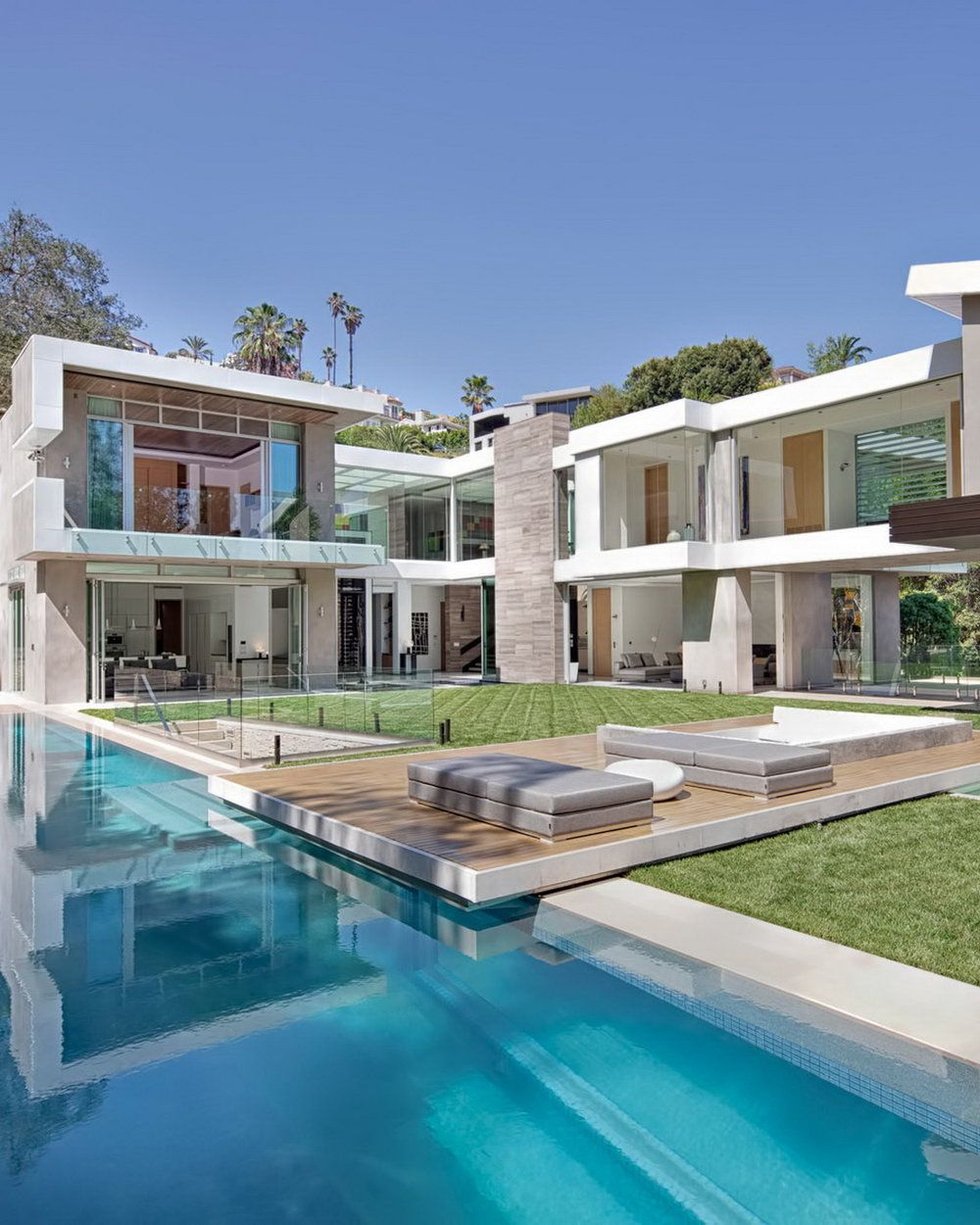 Luxury Residence 1307 Sierra Alta Way Los Angeles Ca Mansions Modern Mansion Hollywood Homes