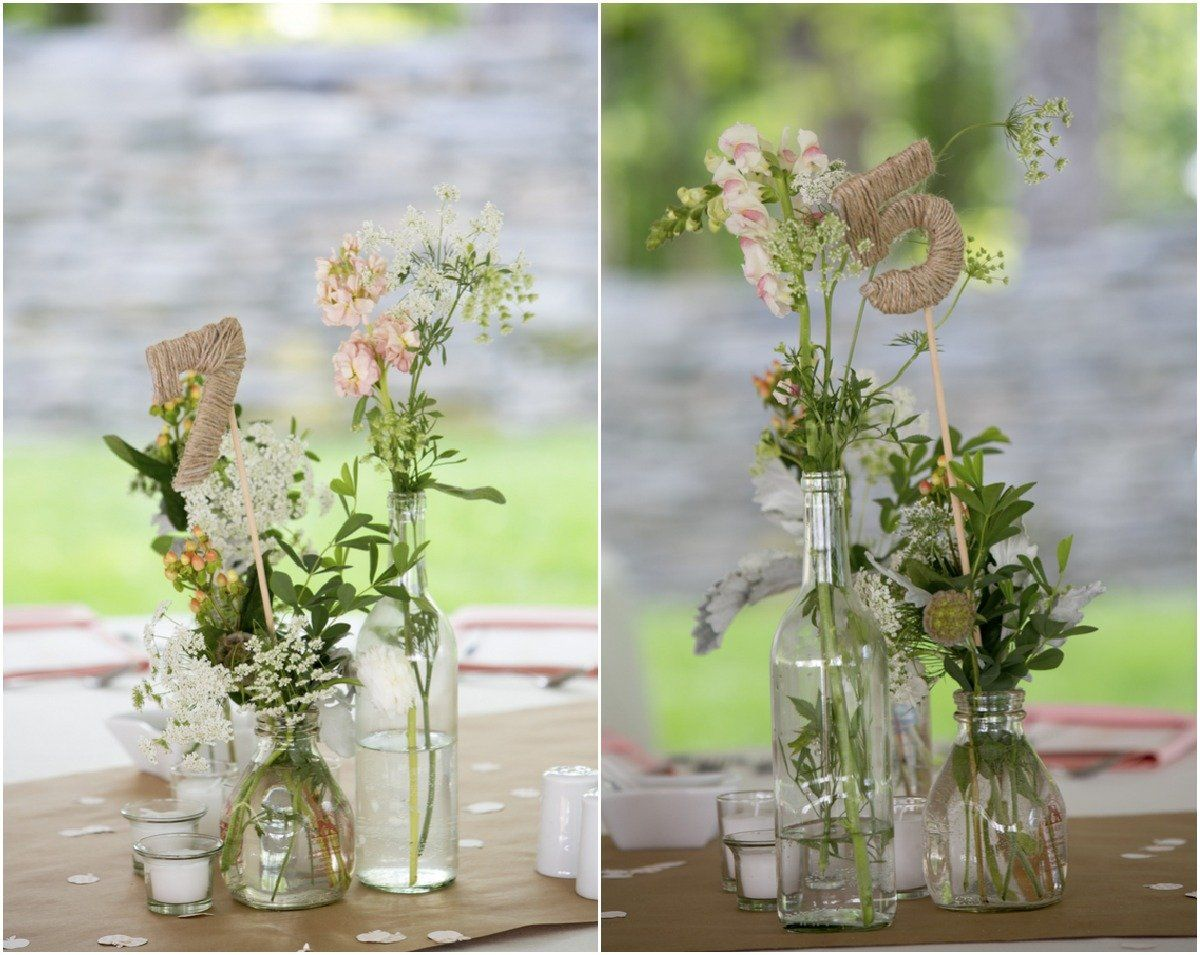 Diy style vermont wedding amanda colin table numbers wedding