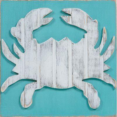 GraceGraffiti Coastal Wildlife Crab Wall Decor Size: Large | Products