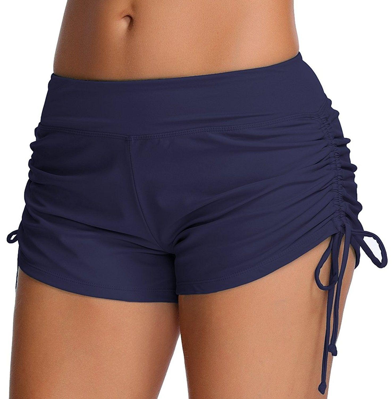 4934d7ae4a4ed Women's Sport Swim Shorts Bikini Bottom Tie Side Swimsuits Boyshorts - Navy  Blue - CR183CN6A6X,Women's Clothing, Swimsuits & Cover Ups, Bikinis, Bottoms  ...