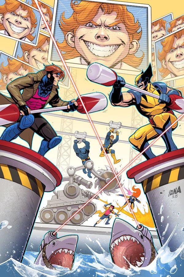Gambit and Wolverine by David Nakayama