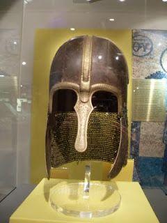 Anglo-Saxon helmet displayed at Yorkshire Museum.