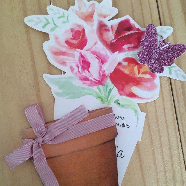 Amanhã é dia de um lindo jardim!! Convite!! #liviamartinsfestas