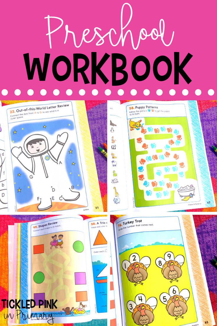 My Preschool Workbook 101 Games And Activities Preschool Workbooks Everything Preschool Kindergarten Workbooks [ 1102 x 735 Pixel ]
