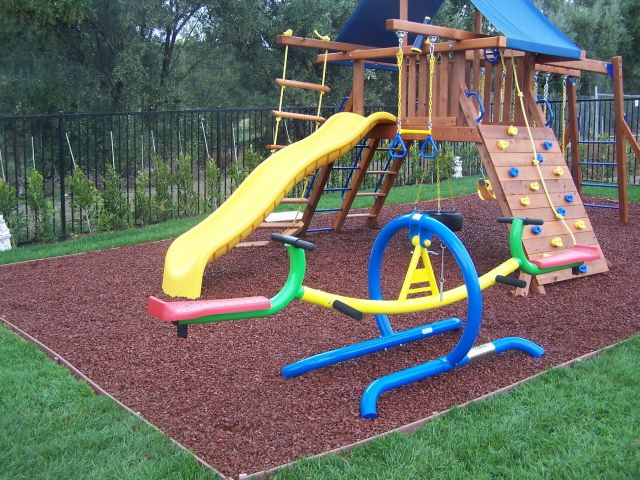 Rubber Bark By Ground Cover Mulch Shredded Playground Play Areas Landscaping