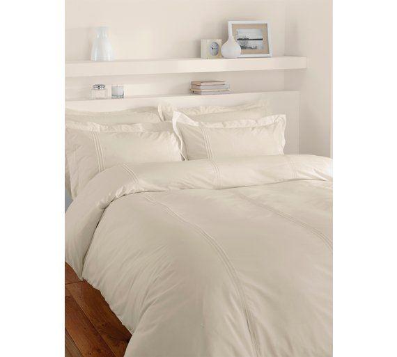 f7fb1bd1911 Buy Minimalist Cream Double Bed Duvet Set at Argos.co.uk - Your Online