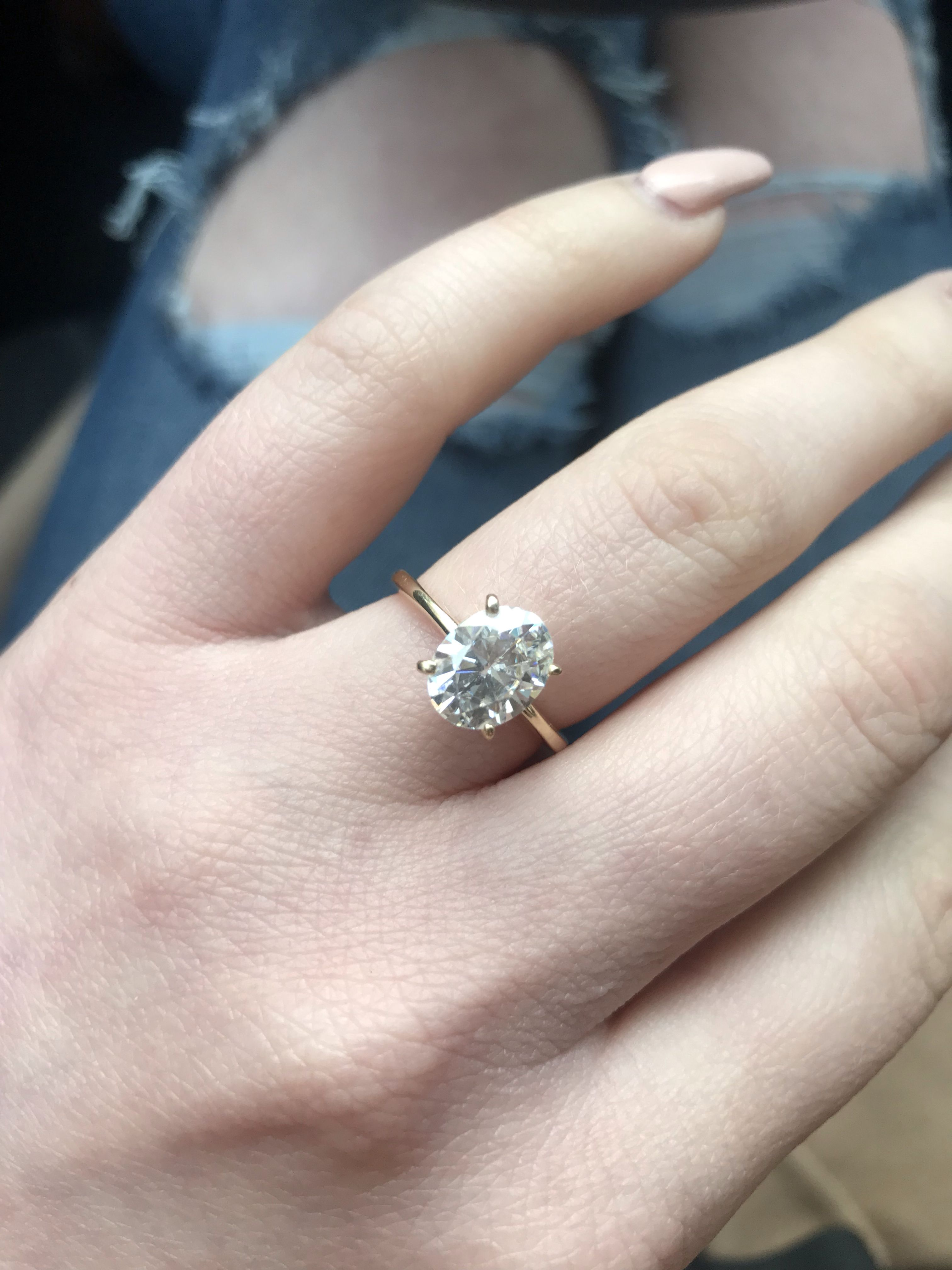 My Oval Solitaire 2 1 Carat Engagement Ring 1 Carat Engagement Rings Gold Oval Engagement Ring Engagement Rings Oval
