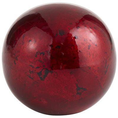 Foil Terracotta Sphere Red Decorative Spheres Decor Glass Decor