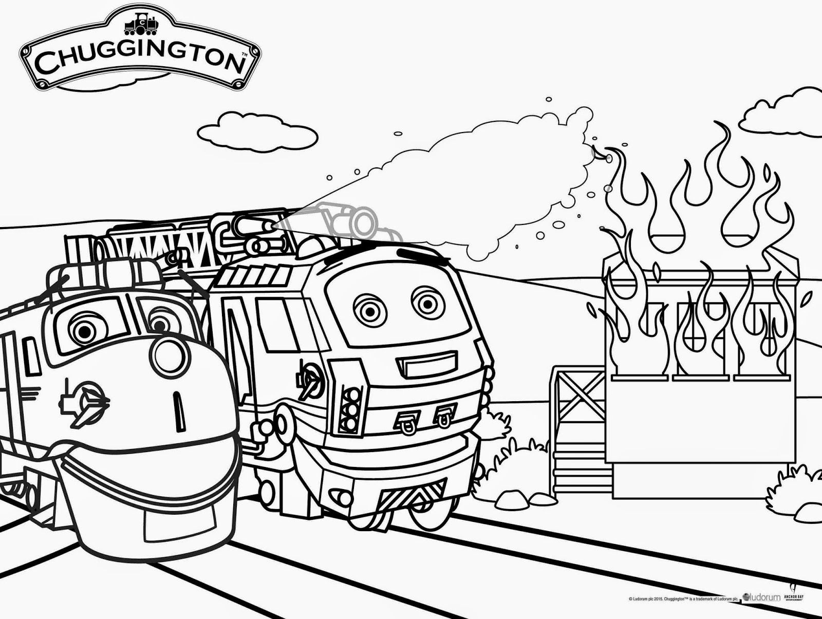 explore coloring pages trains and more