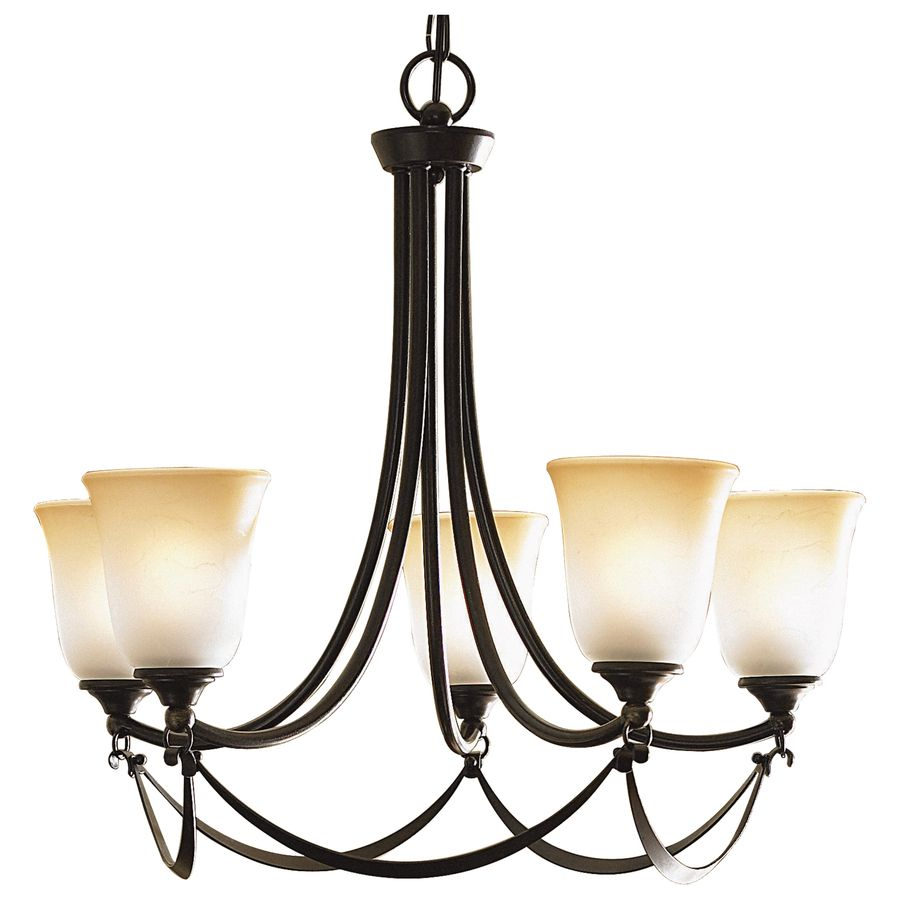 Allen  Roth Winnsboro 25In 5Light Oilrubbed Bronze Coastal Fascinating Lowes Dining Room Light Fixtures Decorating Design