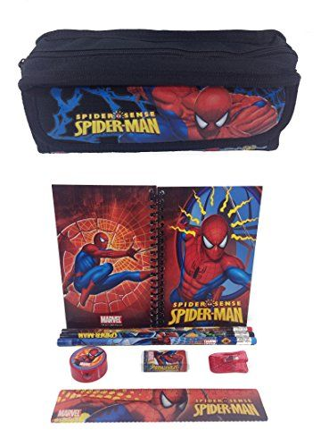 Marvel Spiderman Combo Stationary Set  Pencil Pouch >>> Find out more about the great product at the image link.