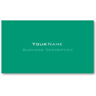 Minimal emerald green business card green business business cards minimal emerald green business card reheart Gallery
