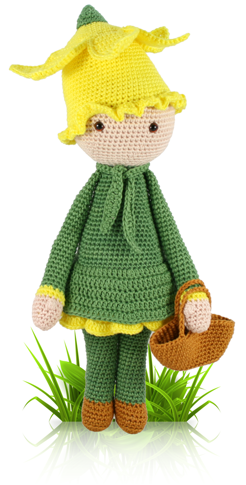 Daffodil Nancy Flower Doll Crochet Pattern Ami Blumenkinder