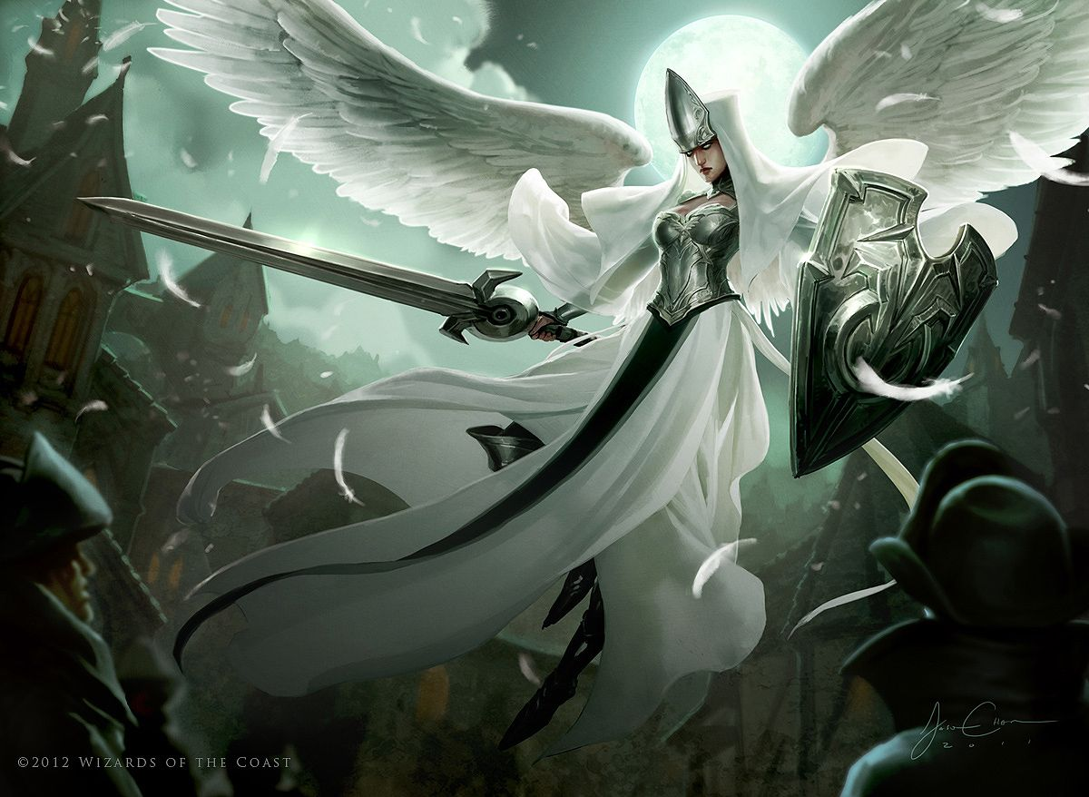 angelic overseer - mtg art | angel&gods | pinterest | イラスト