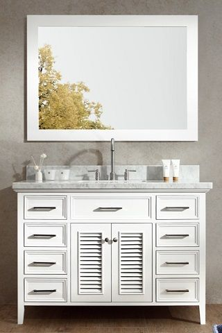 2016 bathroom trends shuttered bathroom vanities for a transitional style - Shaker Bathroom 2016