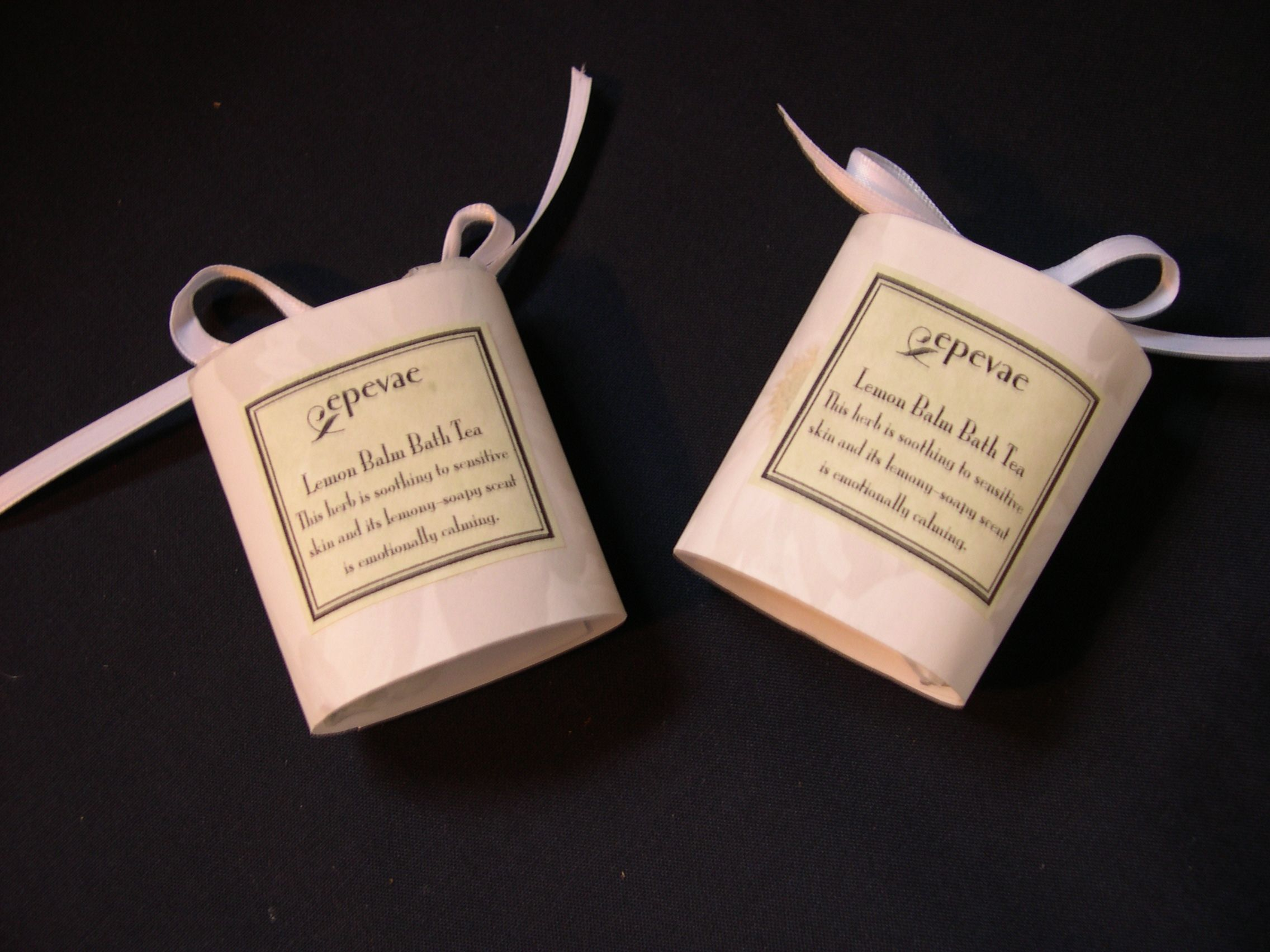Relaxing Lemon Balm bath tea bags!