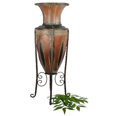 Abchomecollection Old World Tuscan Metal Floor Vase Products