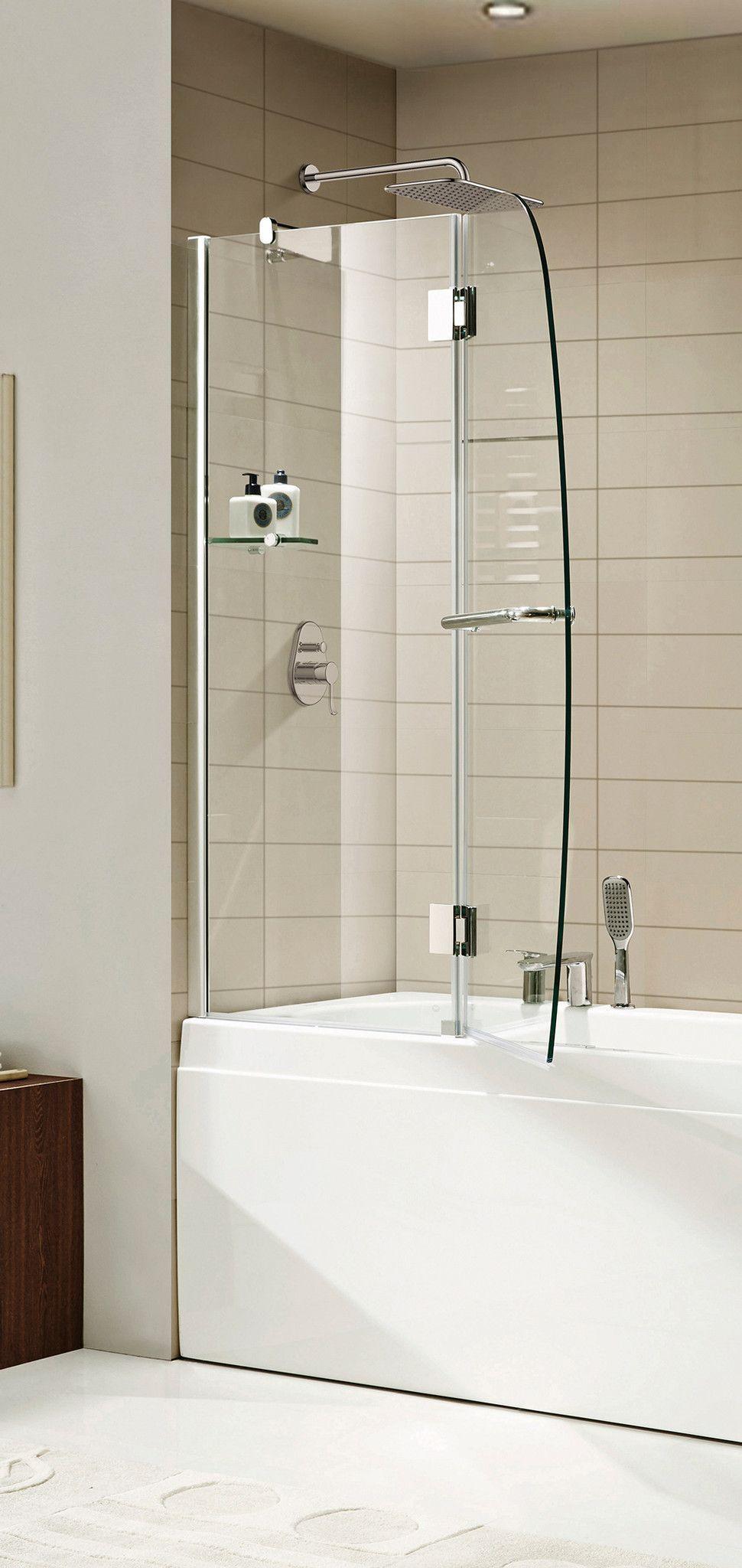 Paragon Bath AURORA-E Frameless Shower Door in Chrome, Size: 48 in ...