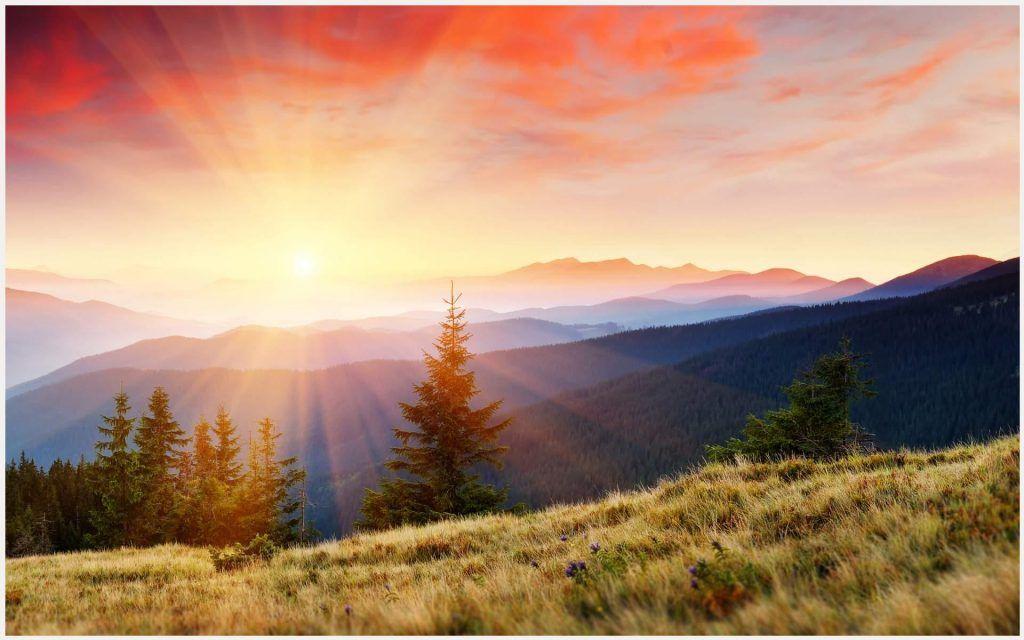 Image Result For Sunrise Over Mountains Mountain Landscape Landscape Sunrise