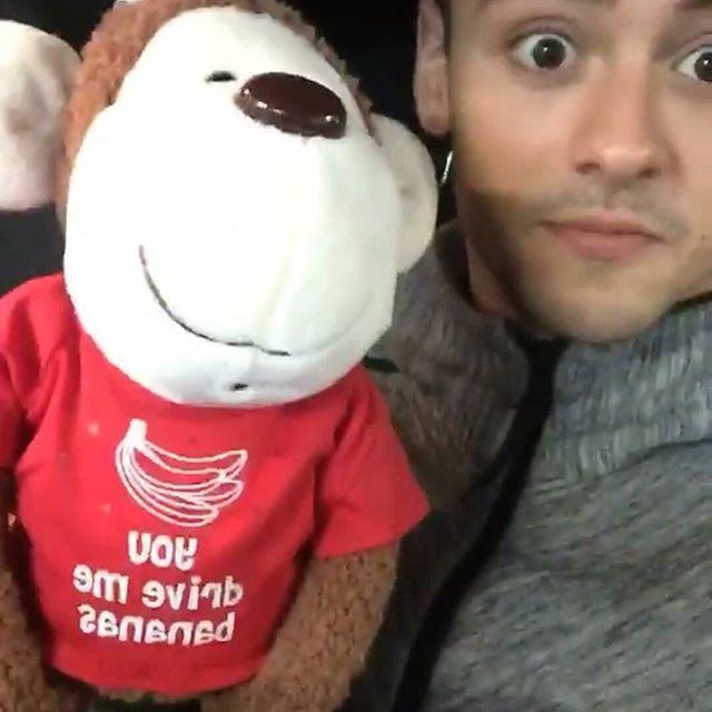 They are so cute! 🐸❤🐒 Tom via insta story!  #tomdaley #dustinlanceblack