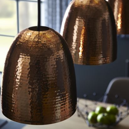 Barock Copper Hammered Shade 5052931011247b Q Copper Lighting Indoor Lighting Interior Lighting