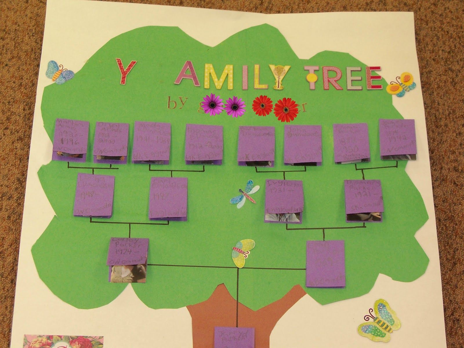 Family Tree Projects Blew My Socks Off Currently Family Tree