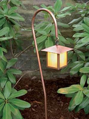 Hadco Gasl7 Copper Mission Style Hook Mount Deco Glass Path Light Housing Hand Formed Solid Copper 1 2 Dia Landscape Lighting Lighting Sale Mission Style