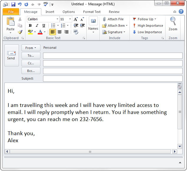 Vacation Auto Response In Outlook Without Exchange Gmail And