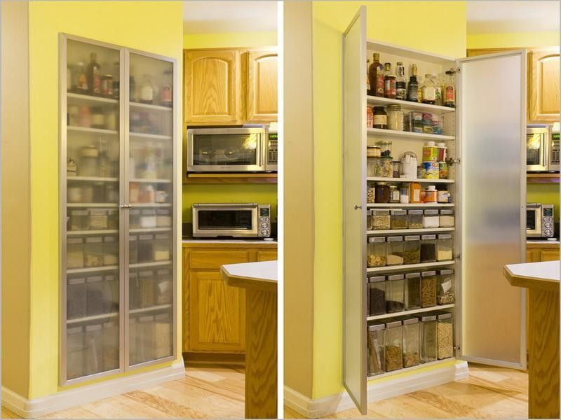 These Decor Ideas Maximize Storage Space With Style No Matter How Small Your Kitchen Cabinets Ar Modern Kitchen Storage Kitchen Pantry Storage Pantry Design