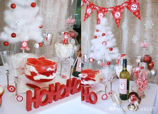 Let It Snow Christmas Party Kara S Party Ideas White Christmas Party Christmas Party Themes Christmas Party