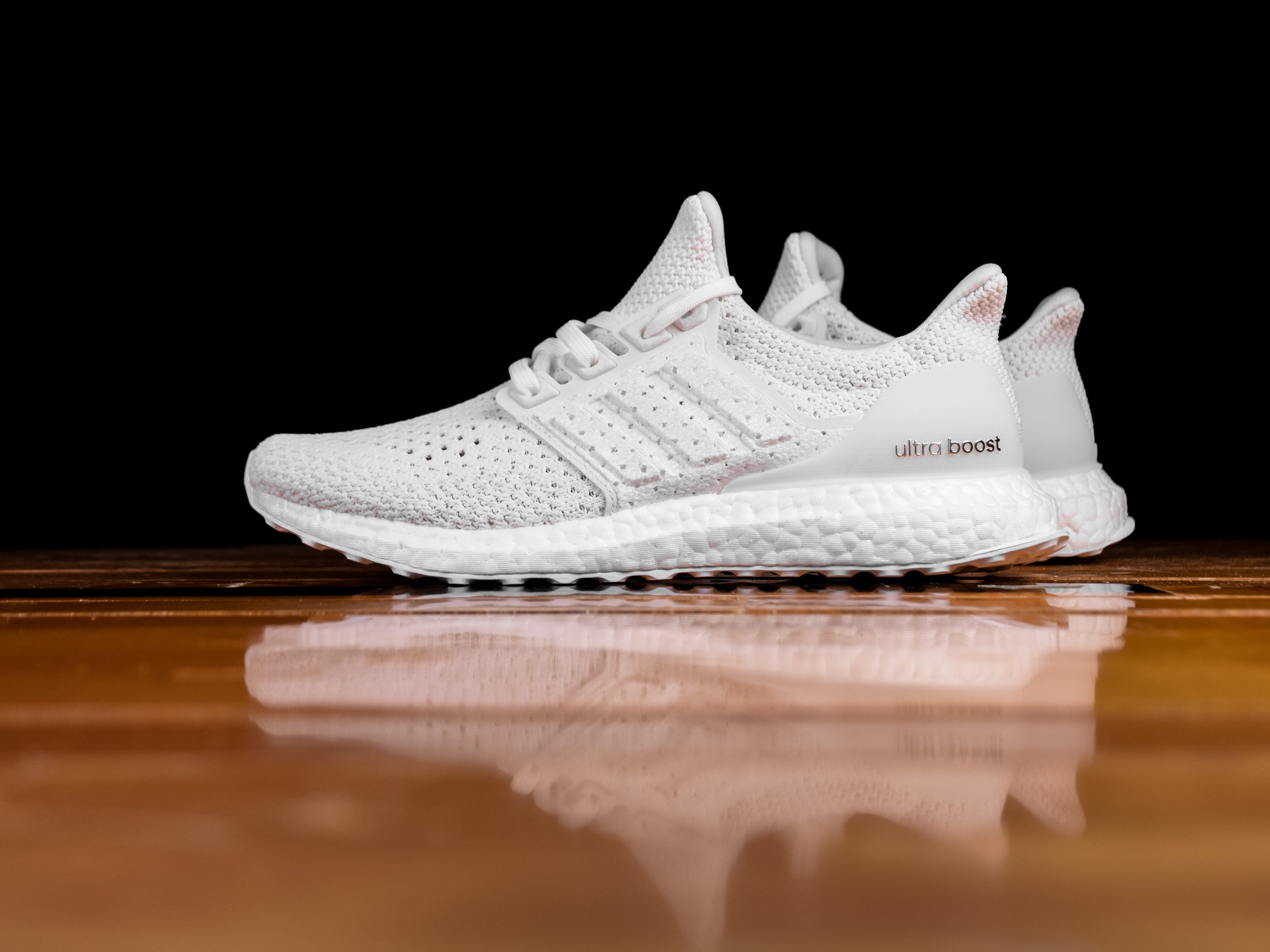 Outlet Men's Adidas Ultra Boost Clima White Sneakers UK