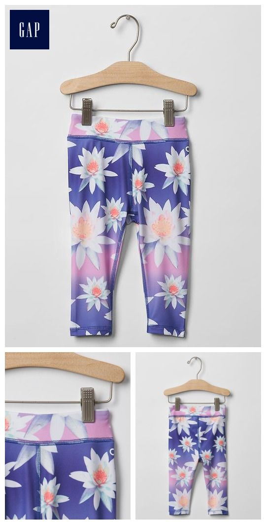 e62e7cbeb6ba7 GapFit toddler floral sport leggings | Moorea's Style | Leggings are ...
