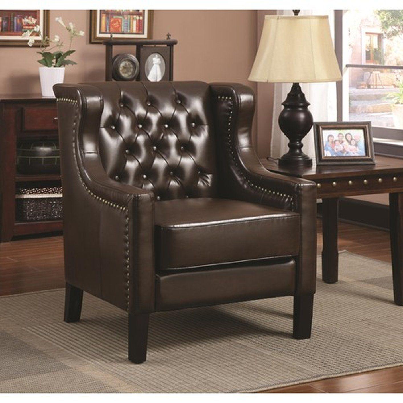 Beau Dark Brown Accent Chair