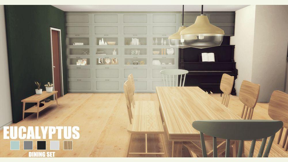 Eucalyptus Diningroom By Kiara Rawks At Onyx Sims Via 4 Updates