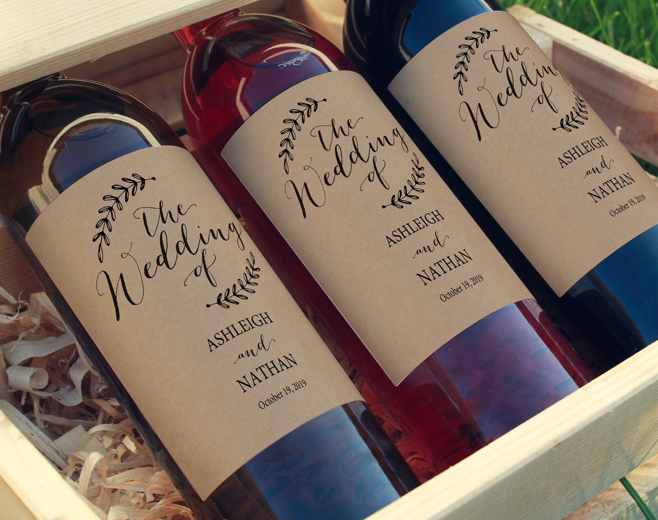 these rustic wedding wine bottle labels are perfect for. Black Bedroom Furniture Sets. Home Design Ideas