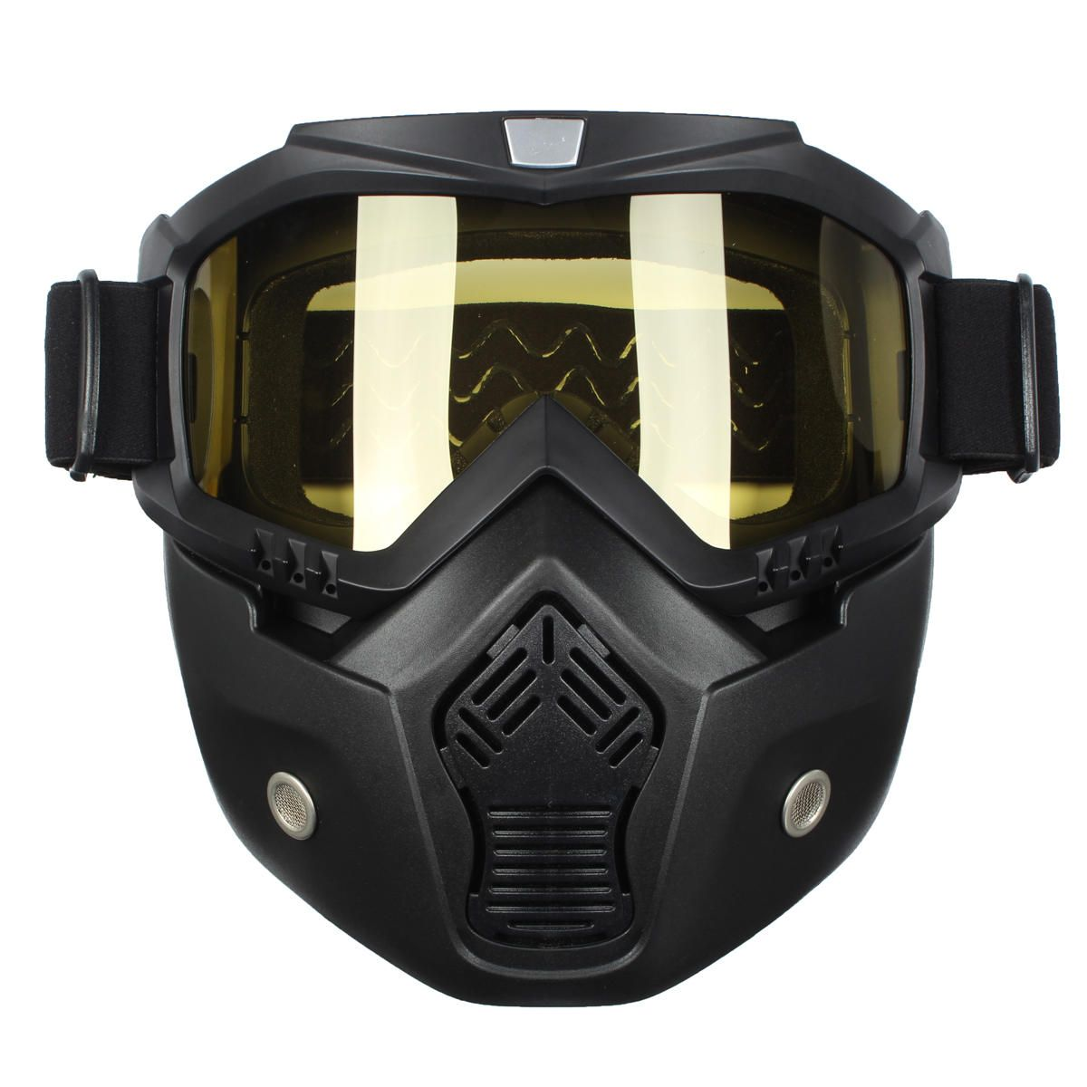 Detachable Motorcycle Motocross Full Face Mask Goggles Riding Cycling for Helmet