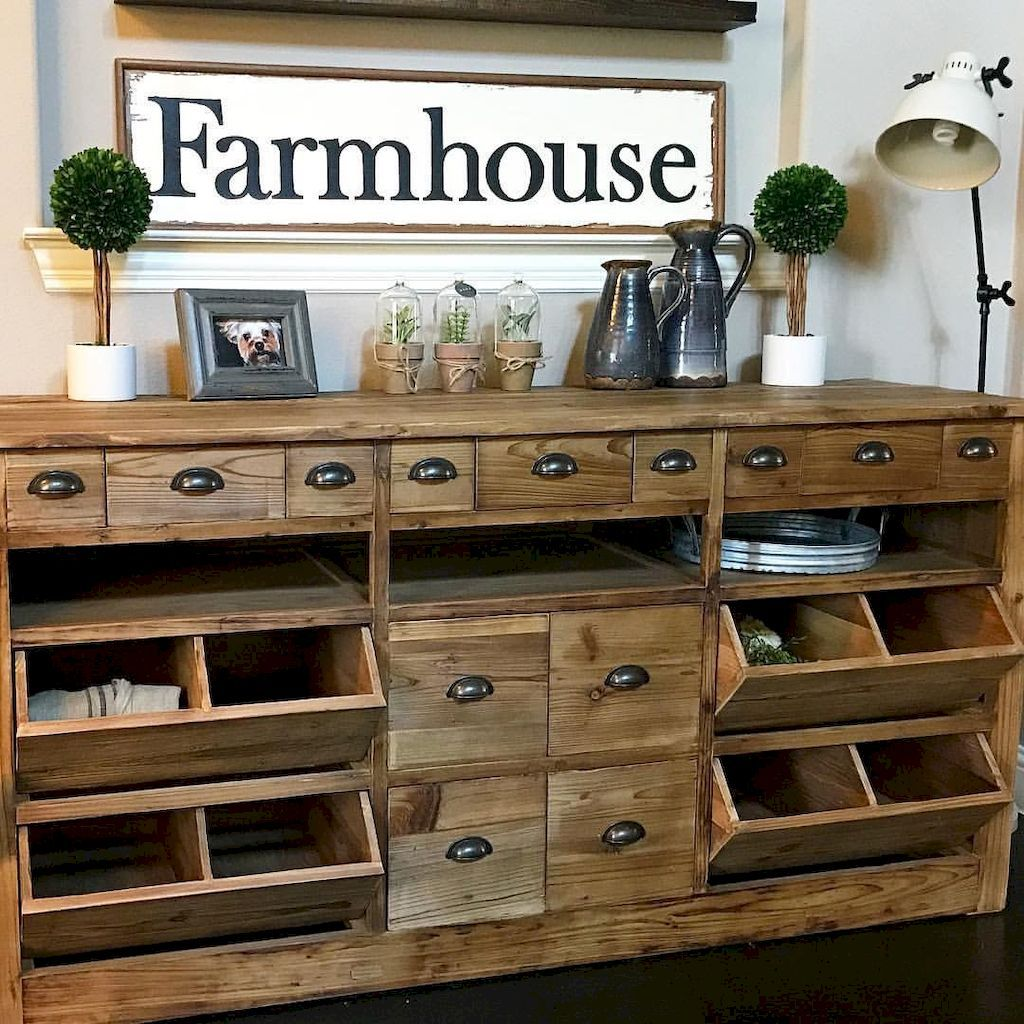Vintage Rustic Kitchen Cabinets: 90 Rustic Kitchen Cabinets Farmhouse Style Ideas