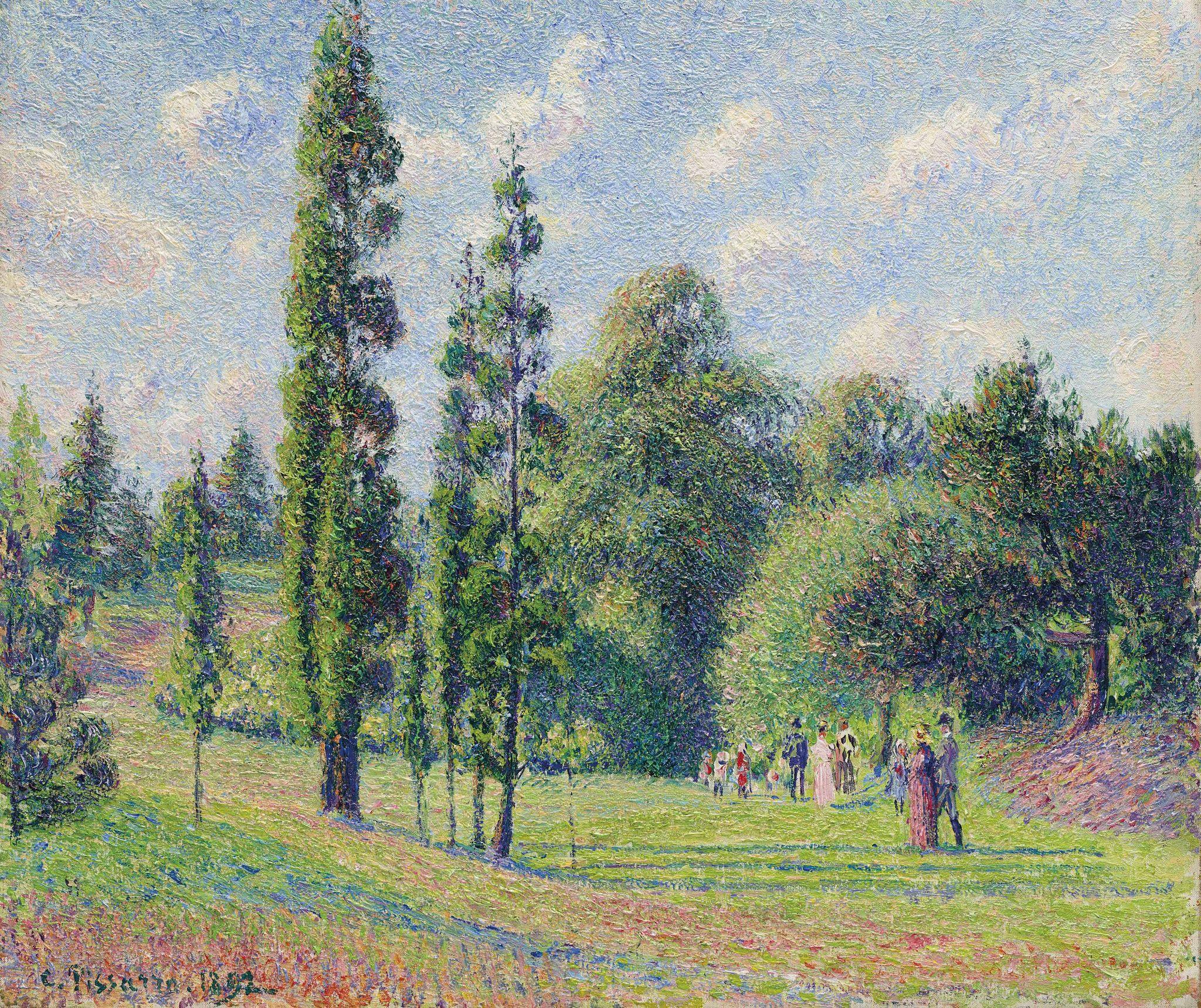 Camille Pissarro Jardin De Kew Londres Kew Gardens London 1892 Camille Pissarro Kew Gardens Landscape