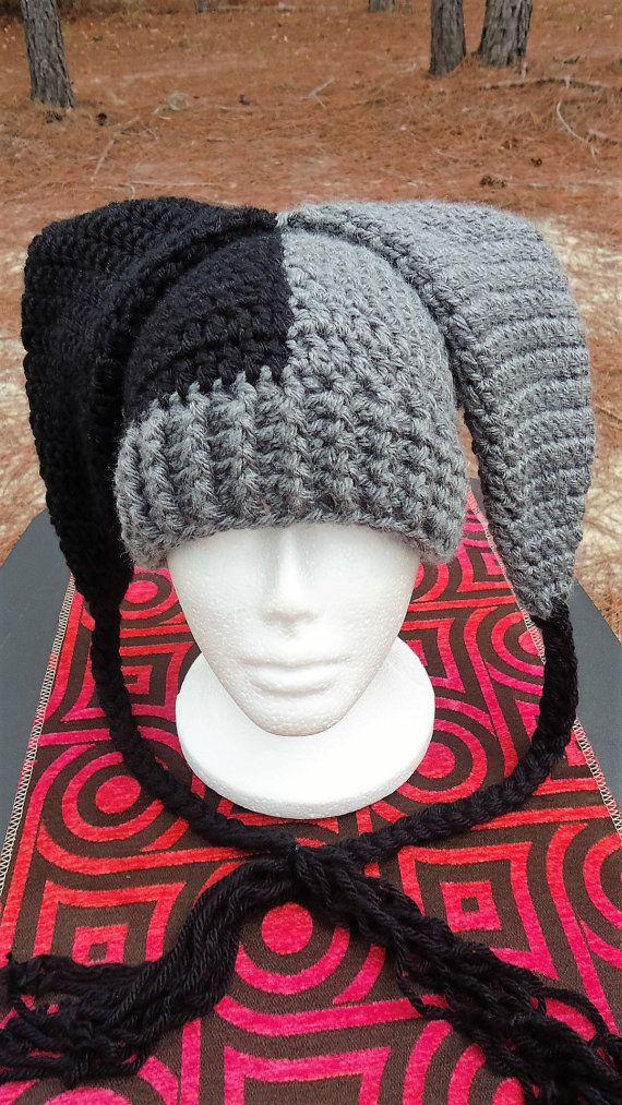 Jester Hat Clown hat Handmade Crochet by WwYarningCentral on Etsy ... aa6135237c2