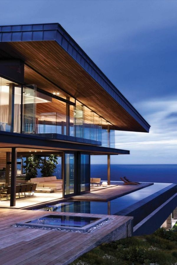 Traumhaftes Luxushaus Mit Einem Fantastischen Pool Super Moderne Architektur