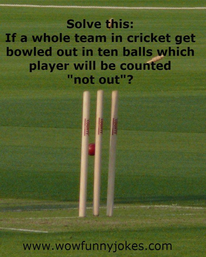 funny cricket jokes Crickets funny, Sports joke, Cricket
