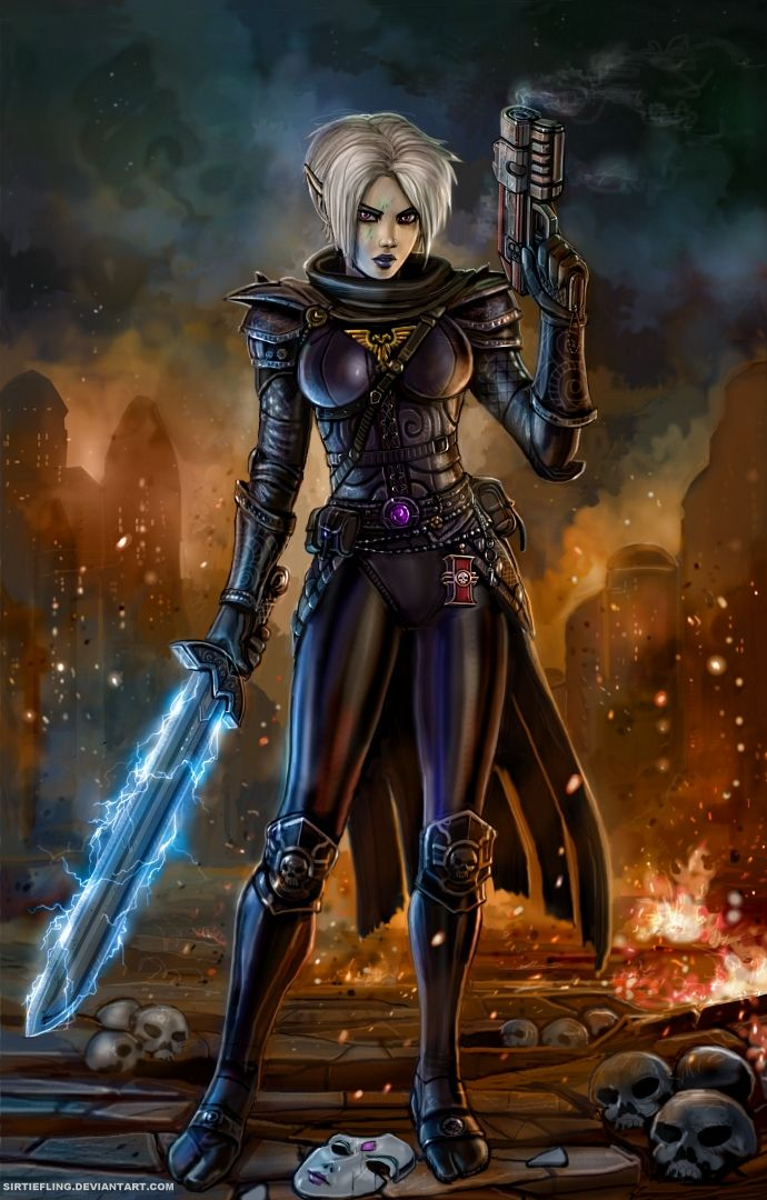 Wh40k Confused Space Elf By Sirtiefling Deviantart Com On