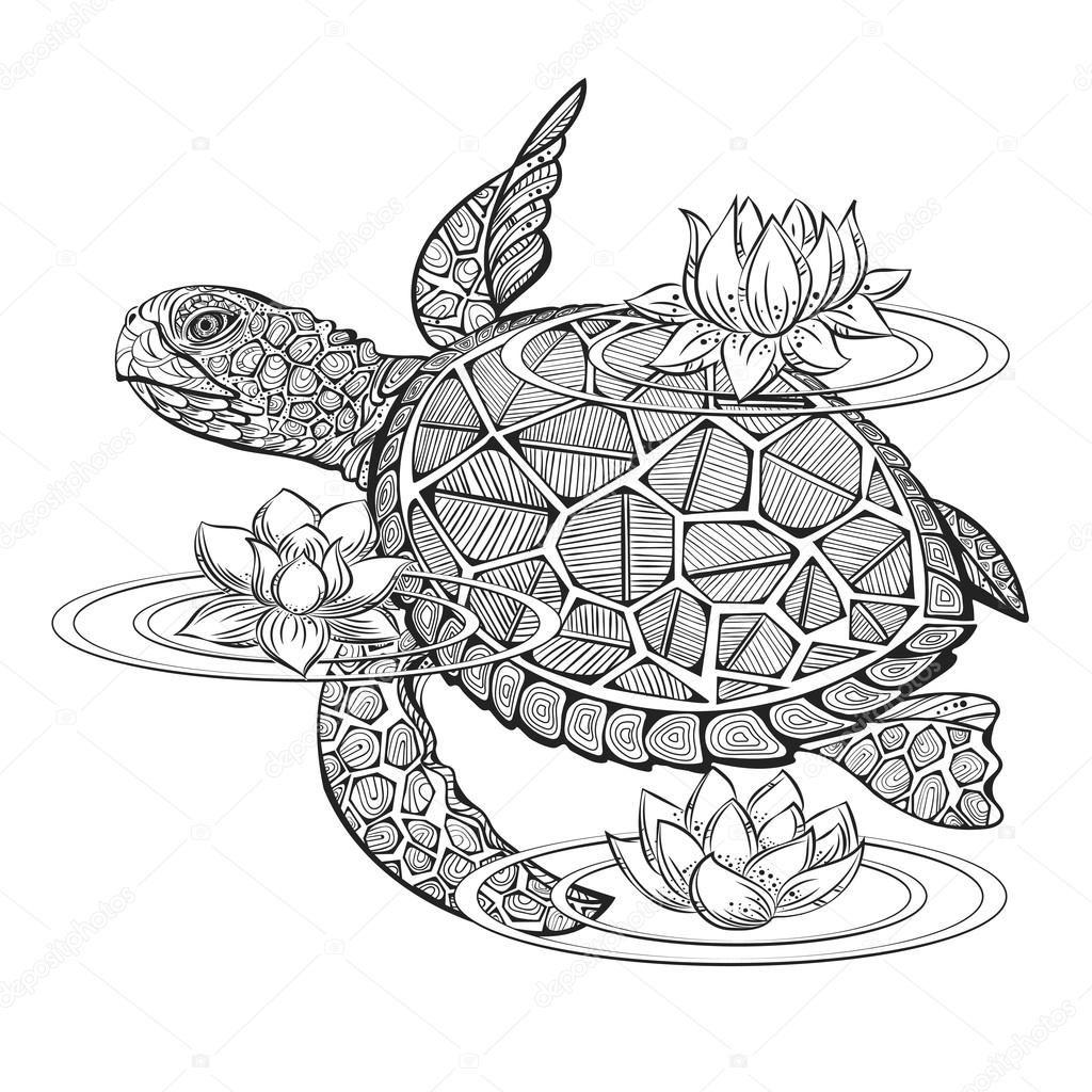 Descargar - Tortuga de vector — Ilustración de stock #110079266 ...