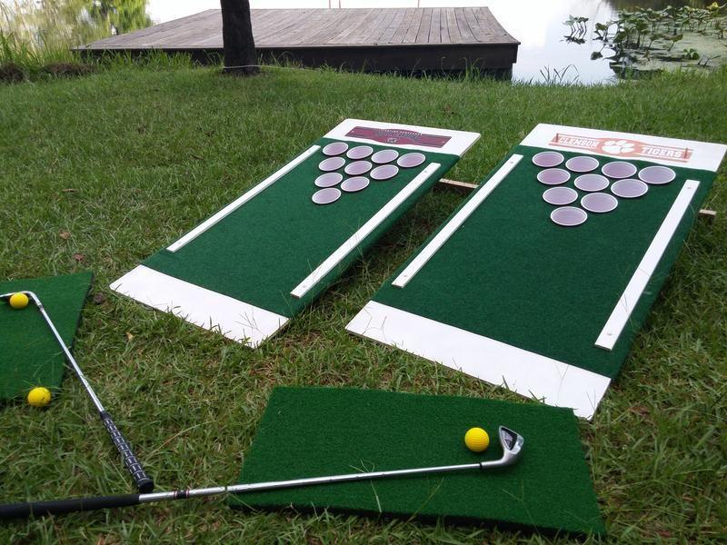 Beer Pong Golf The Original Set Golf Rules Golf Card Game Pong