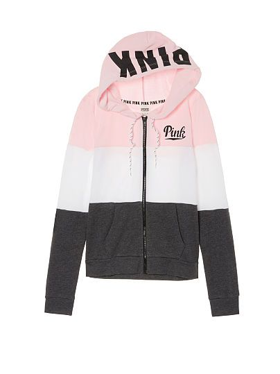 60985310 Perfect Full-Zip Hoodie PINK | All VS PINK Clothes | Pink outfits ...