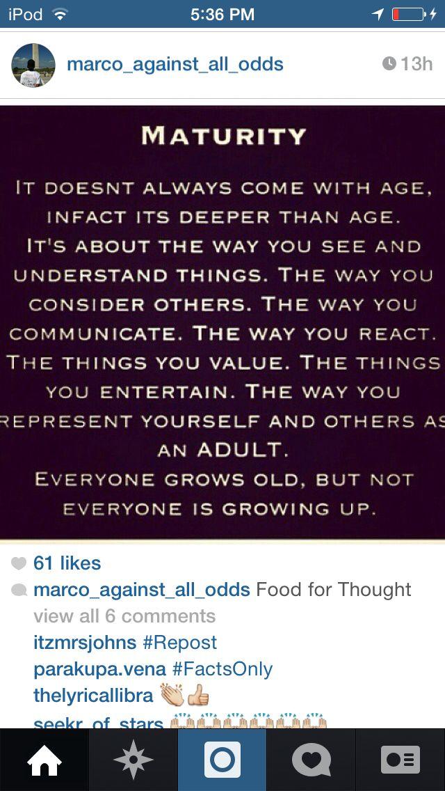 #maturity