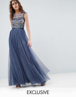 160cd7d327 Needle and Thread Ditsy Floral Embroidery Maxi Dress | Lisa's ...